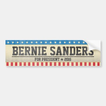 Bernie Sanders for President 2016 Vintage Design Bumper Sticker