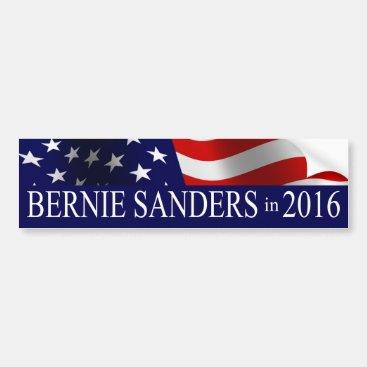 Bernie Sanders President 2016 USA Flag Bumper Sticker