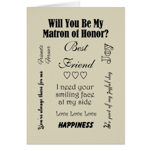 Will You Be My Matron Of Honor Quotes Of Love And Marriage Its A