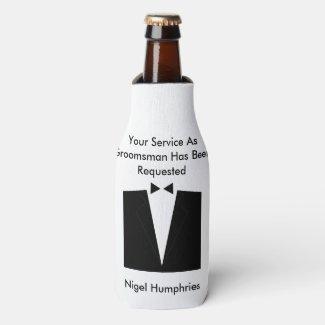 Best Man or Groomsman Invite Bottle Cooler