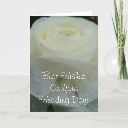 Best Wishes on Your Wedding Day Card | Zazzle.com