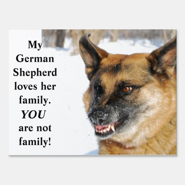 Beware Of German Shepherd Humorous Yard Sign Zazzle Com