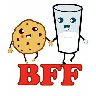 BFF, cookie and milk shirt