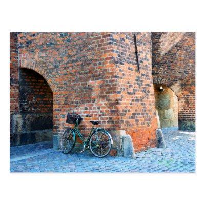 Bicycle, St. Nicholas Church, Copenhagen, Denmark Postcards