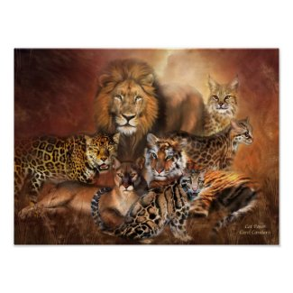 Big Cats Art Poster/Print