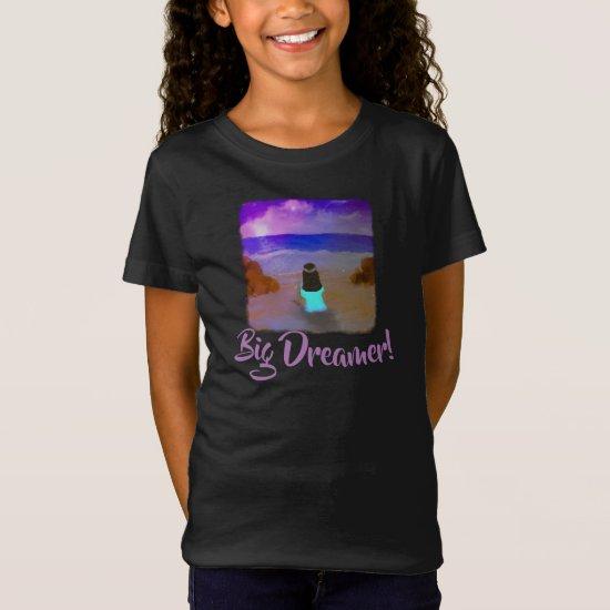 Big Dreamer! Girls Beach Birthday Painting T-Shirt