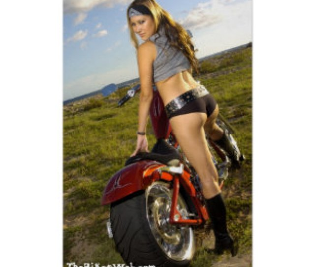 Biker Babe Poster Brunette Biker Babe