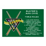 Billiards Rack House Pool Rules Poster Zazzle Com