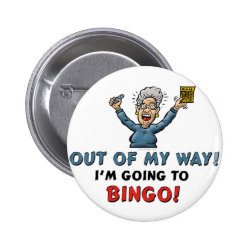 Novelty Buttons Bingo Lovers Pinback Button