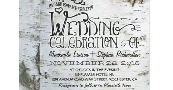 Tree Wedding Invitations Southern Trees