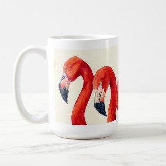 Birds Of A Feather - Flamingo Coffee Mug mug