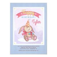 Birthday Bunny Invitation