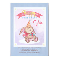 Birthday Bunny Invitation