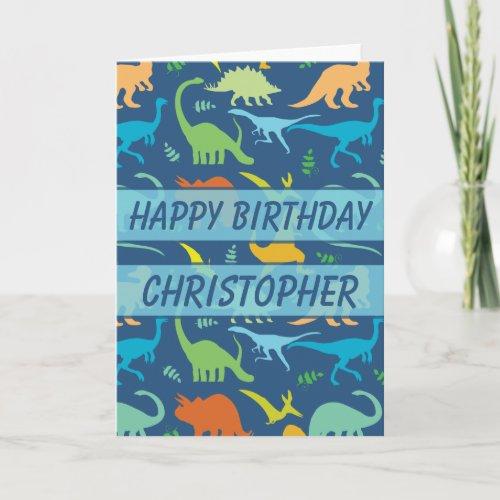 Birthday Dinosaur to Personalize Card