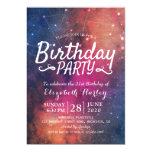 Birthday Party Galaxy Stars Nebula Constellations Invitation