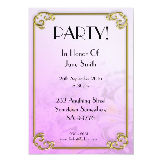 Birthday Party Invitation 90 Years Old Zazzle