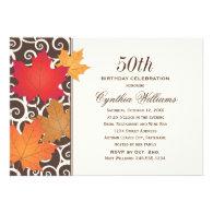 Birthday Party Invitation | Autumn Fall Theme