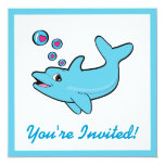 Birthday Party Invitation with Dolphins