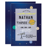 Birthday Party Invite Space Galaxy Planets Any Age