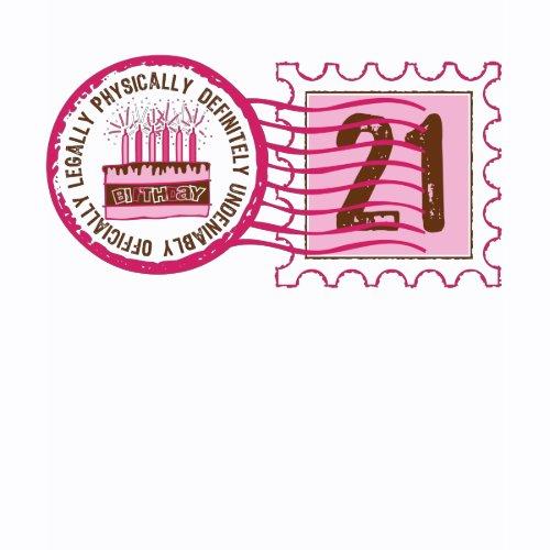 Birthday Stamp 21 T-shirt shirt