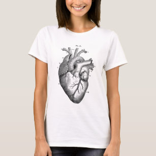 anatomical heart diagram ford 7 blade wiring clothing zazzle black t shirt