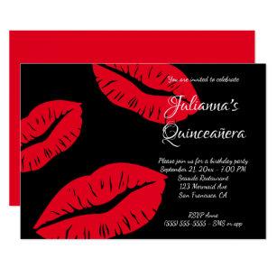 red lips invitations zazzle