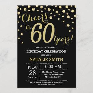 male 60th birthday invitations zazzle