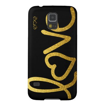 Black and Gold Love Galaxy S5 Case