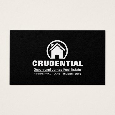 Black and Gold Professional Real Estate Broker Business Card