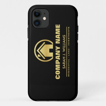 Black and Gold Real Estate iPhone 11 Case