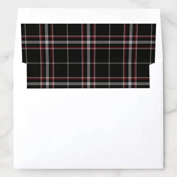 Black and Red Tartan Plaid Pattern Envelope Liner