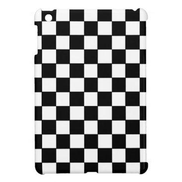 Black and White Checkerboard Pattern Case For The iPad Mini