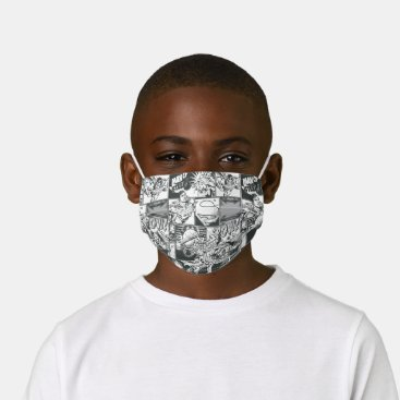 Black and White Comic Pattern Kids' Cloth Face Mask