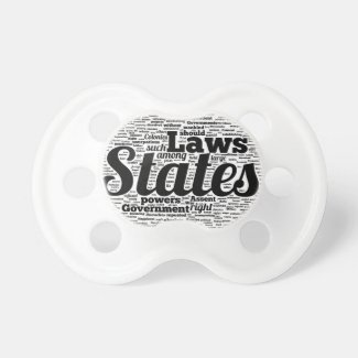 Black And White Constitution Baby Pacifiers