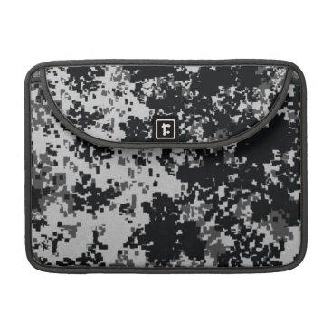 Black and White Digital Camouflage MacBook Pro Sleeve