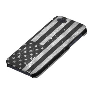 Black and White Grunge American Flag Cover For iPhone SE/5/5s