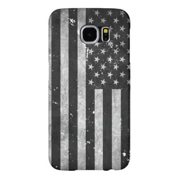 Black and White Grunge American Flag Samsung Galaxy S6 Case