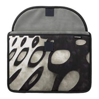 Black and White Grunge Art Sleeve For MacBook Pro