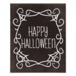 Black and White Happy Halloween Poster