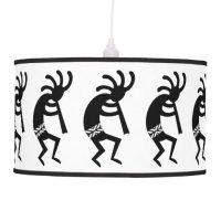 Black And White Kokopelli Southwest Hanging Lamp | Zazzle