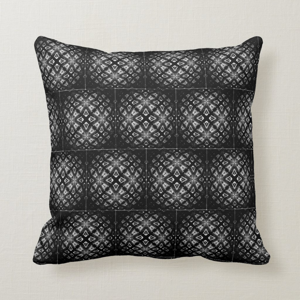 Black and White Pattern Chill With Cushionarium Throw Pillow