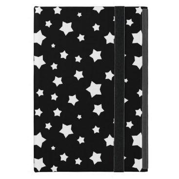 Black and white stars pattern iPad mini cover