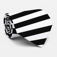 Black and White Striped Tie | Zazzle