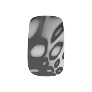Black and White Swirly Abstract Minx Nail Wraps