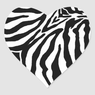 Cheetah Print Black And White Heart