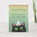 Black Cat Birthday Greeting Card