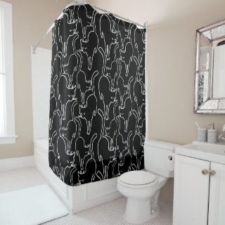 Black Cat Friday Shower Curtain