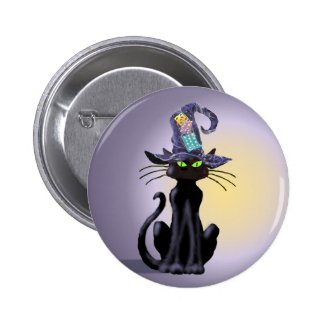 Halloween Black Cat Jewelry Pins