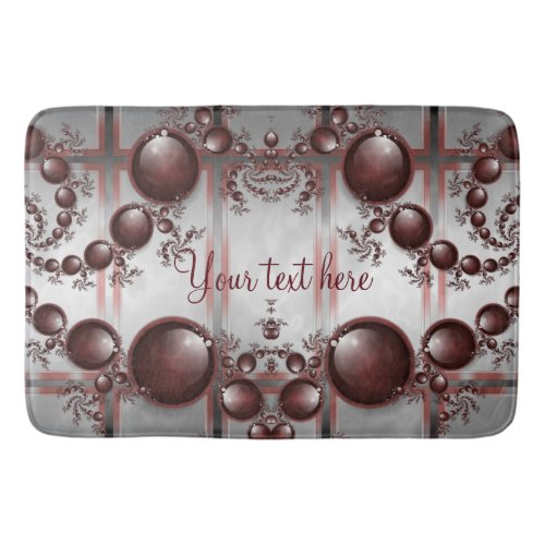 Black Cherry Marble Personalized Bath Mats