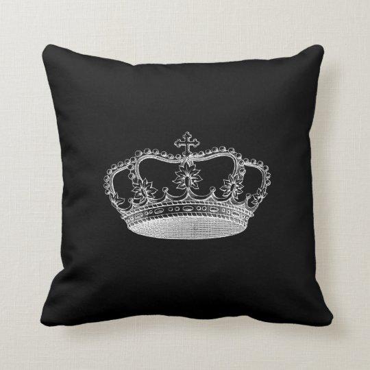 Black Crown B Throw Pillow 20 x 20  Zazzlecom